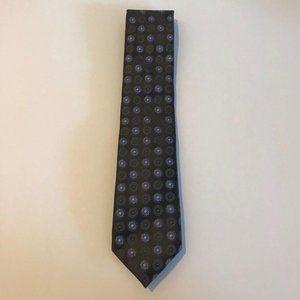 Vintage Canali Black Gray Purple Mandala Tie